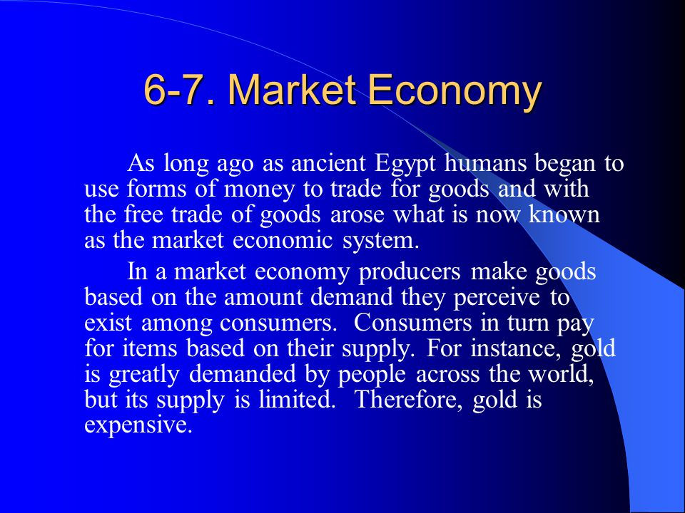 6-7. Market Economy