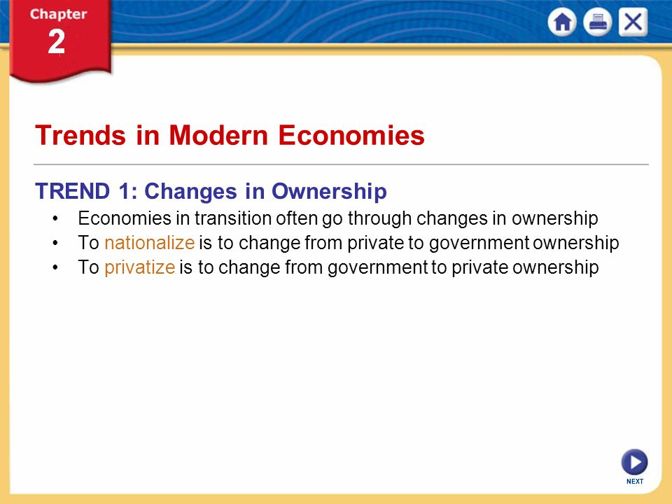 Trends in Modern Economies