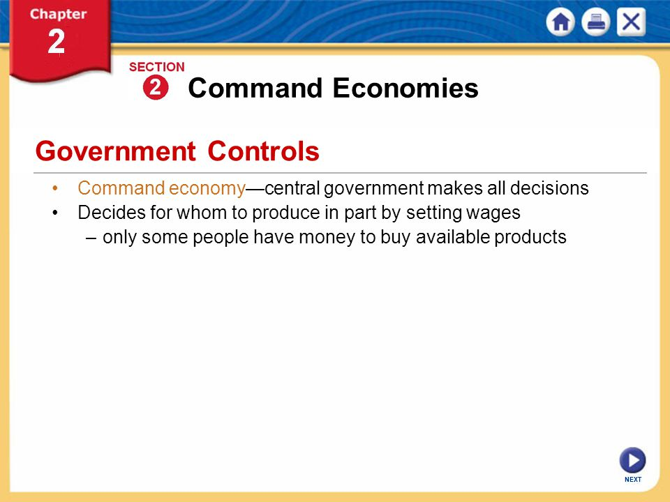 Command Economies Government Controls