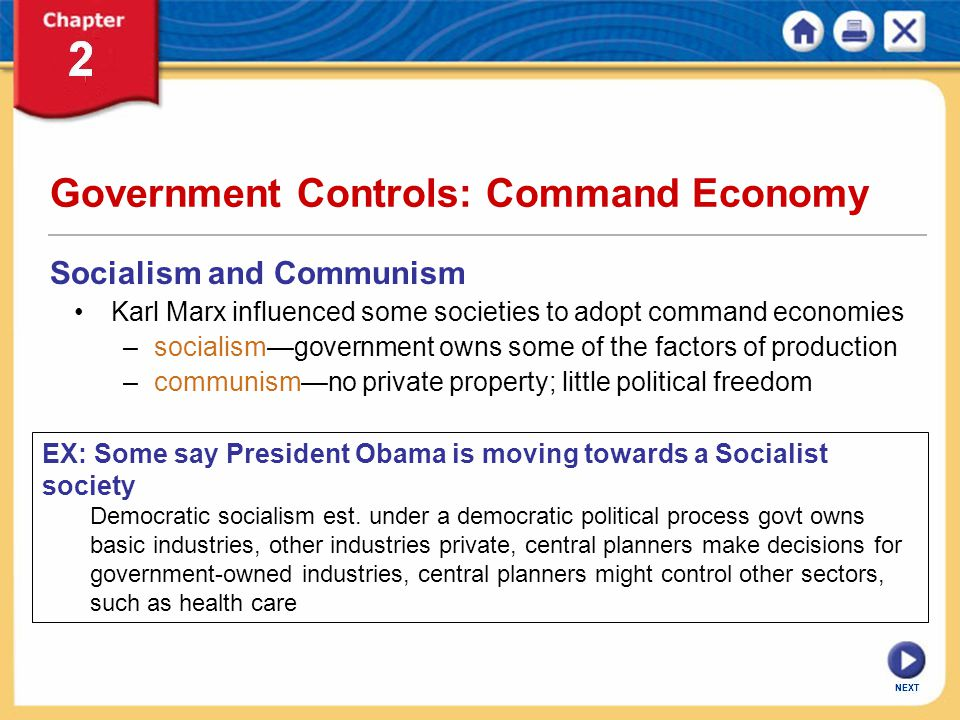 Government Controls: Command Economy