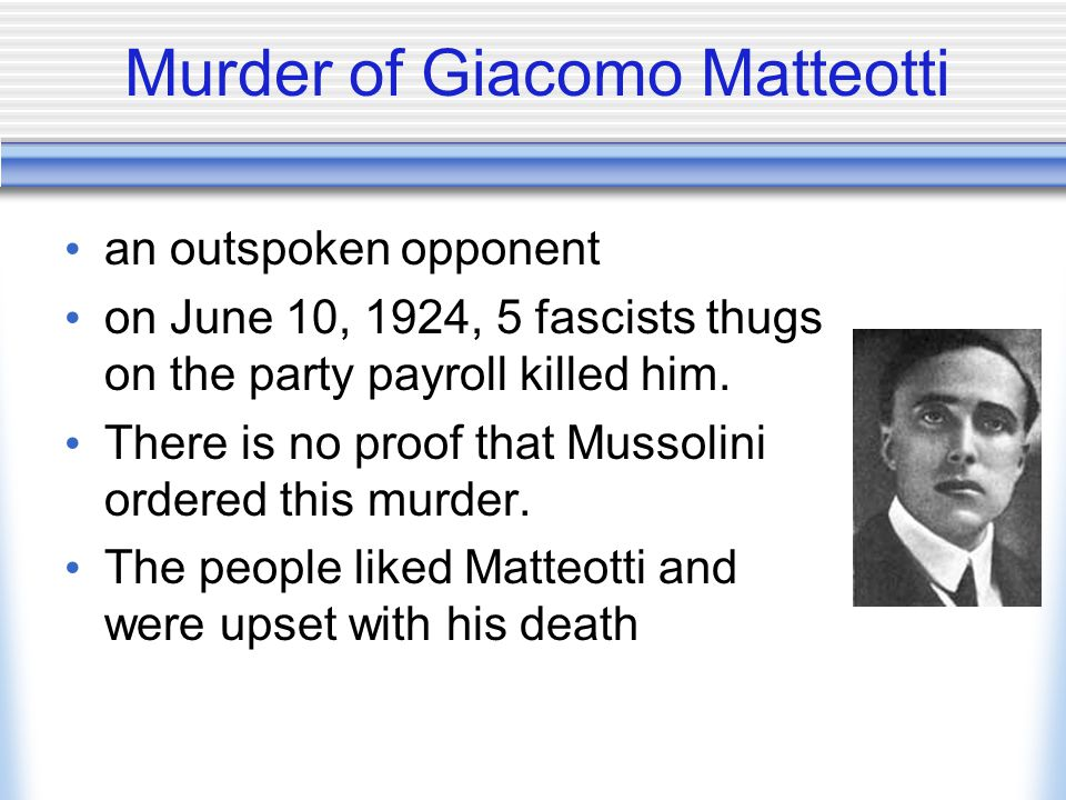 Murder of Giacomo Matteotti