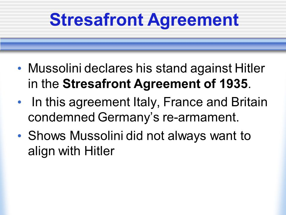 Stresafront Agreement