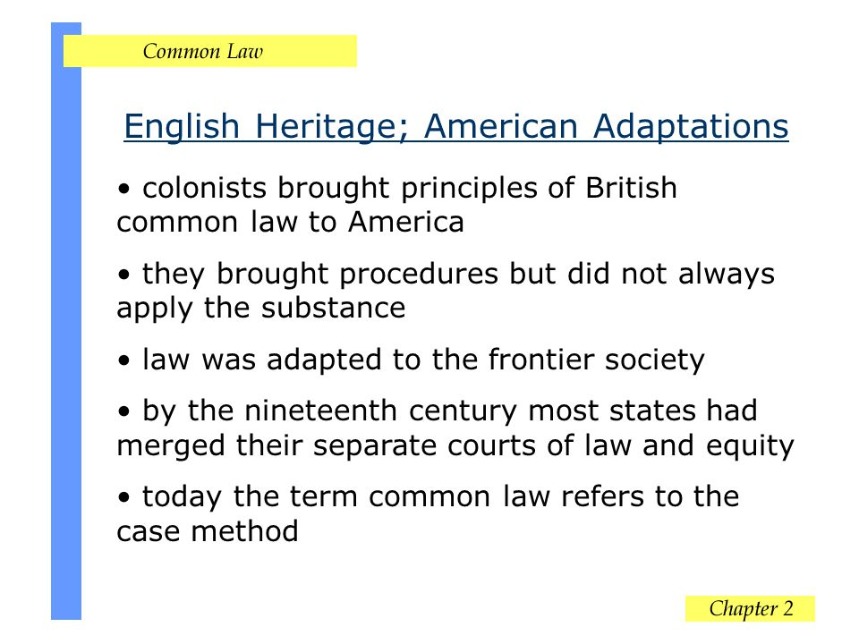 English Heritage; American Adaptations