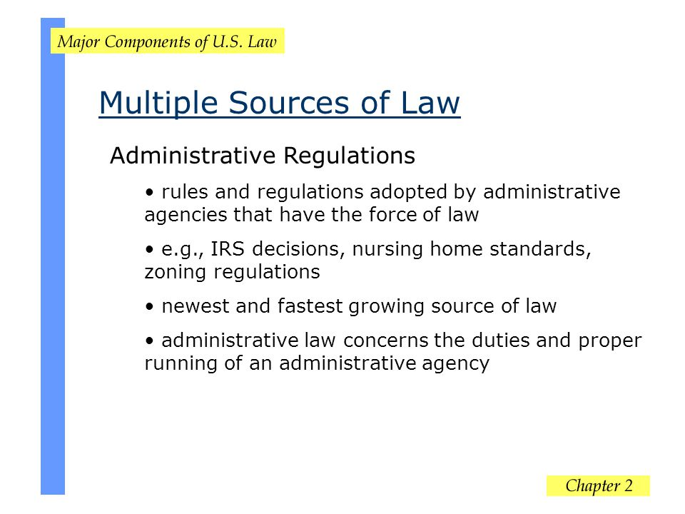 Multiple Sources of Law