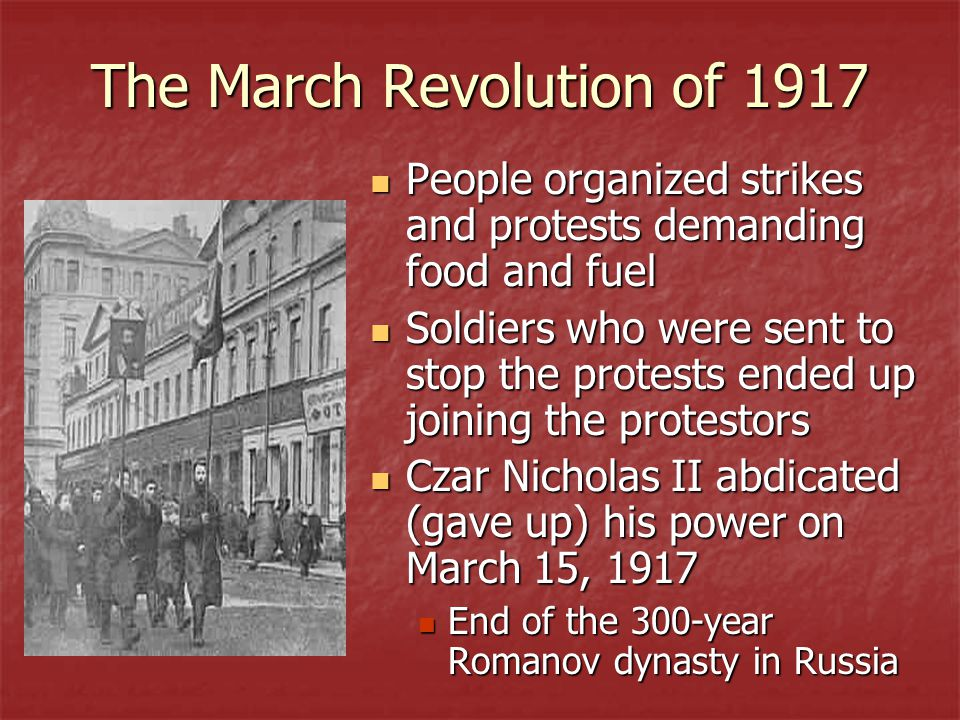 The March Revolution of 1917