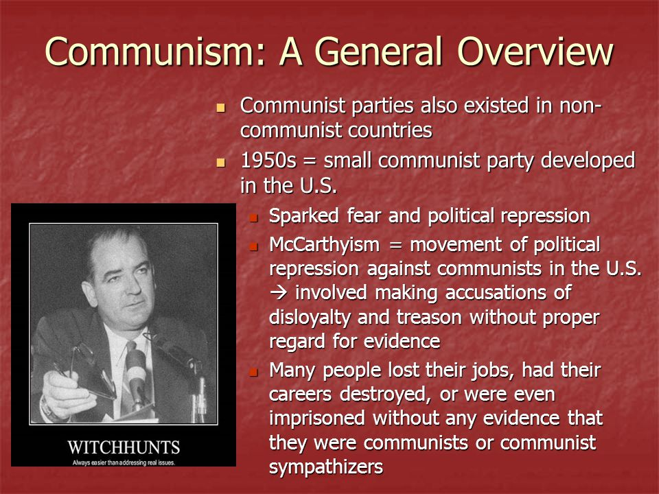 Communism: A General Overview