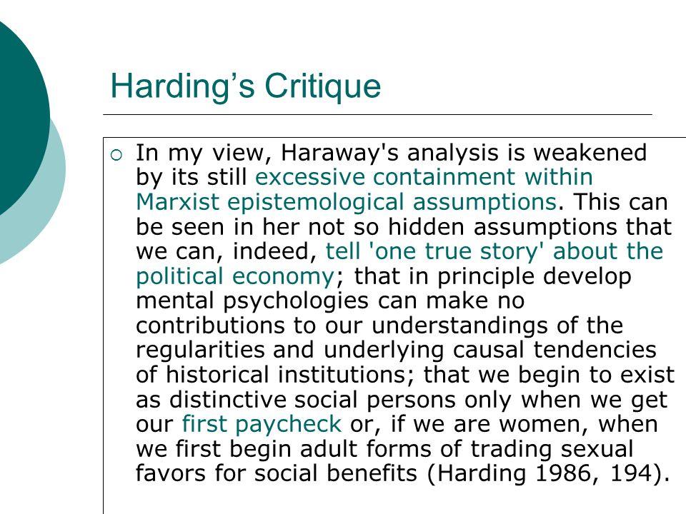 Harding's Critique