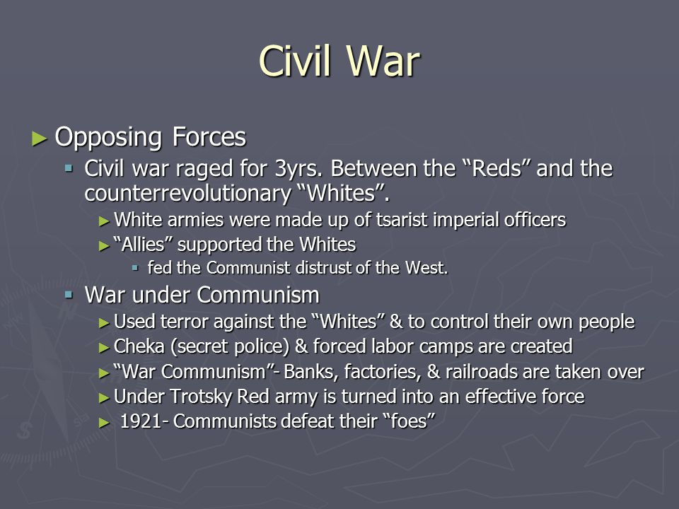 Civil War Opposing Forces