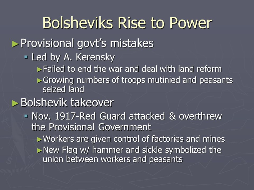 Bolsheviks Rise to Power