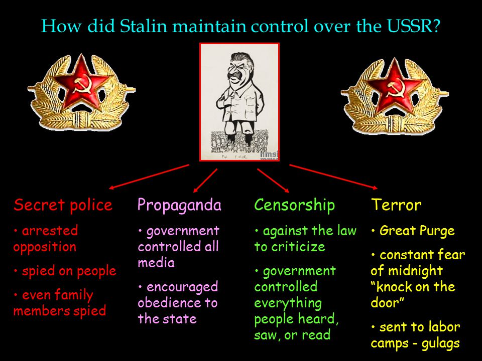 How did Stalin maintain control over the USSR
