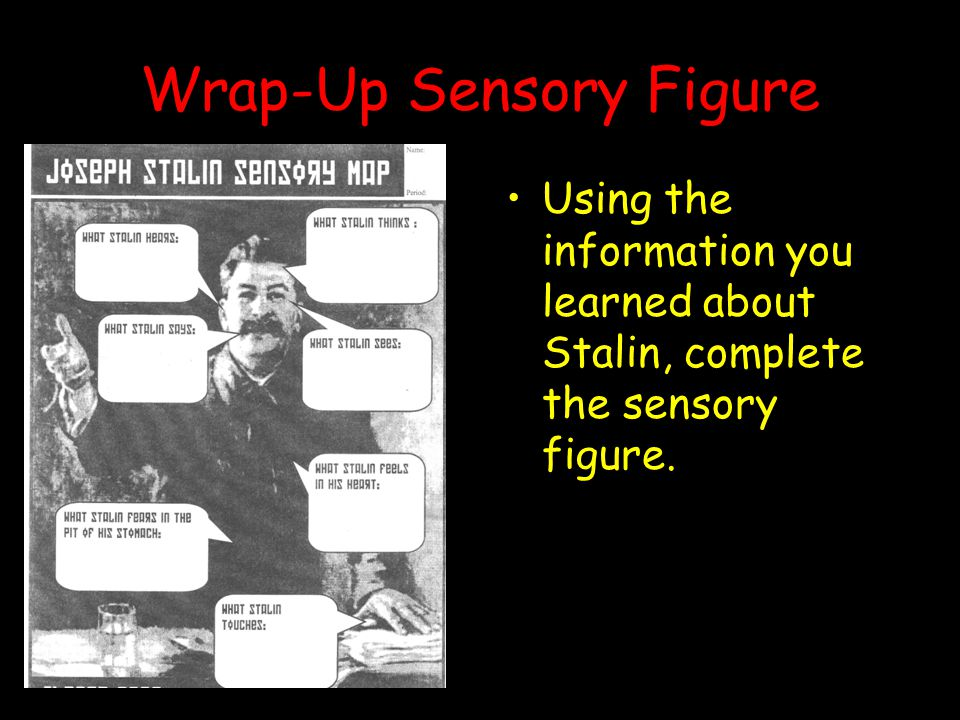 Wrap-Up Sensory Figure