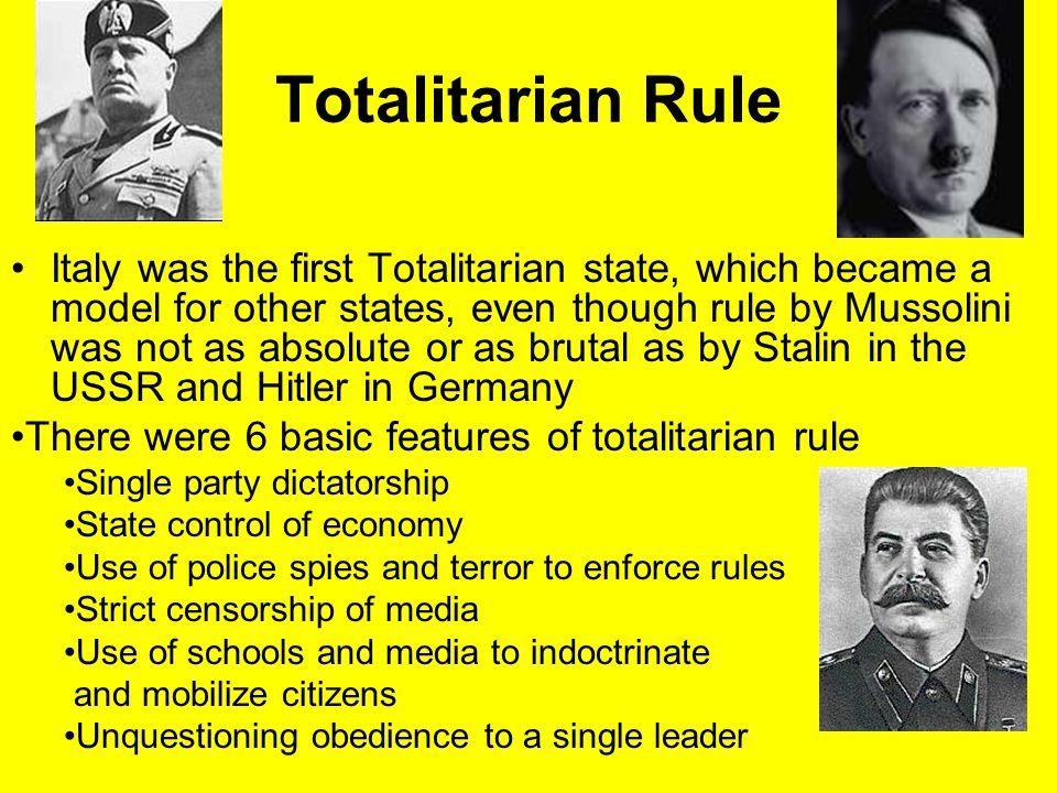 Totalitarian Rule