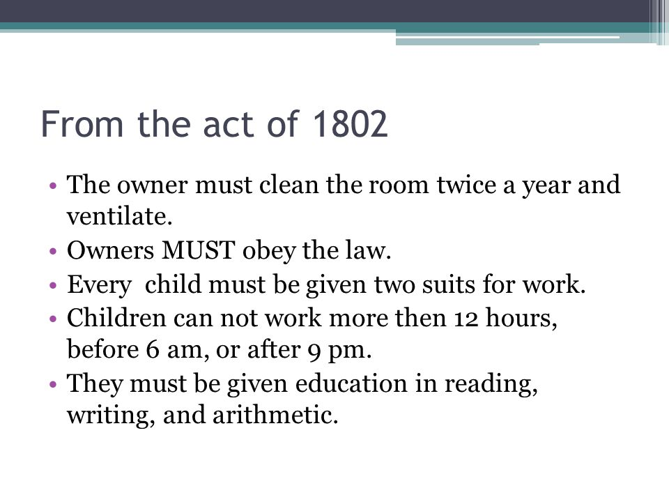 From the act of 1802 The owner must clean the room twice a year and ventilate. Owners MUST obey the law.
