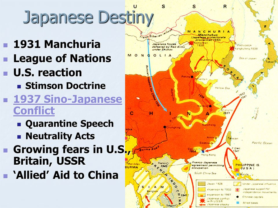 Japanese Destiny 1931 Manchuria League of Nations U.S. reaction
