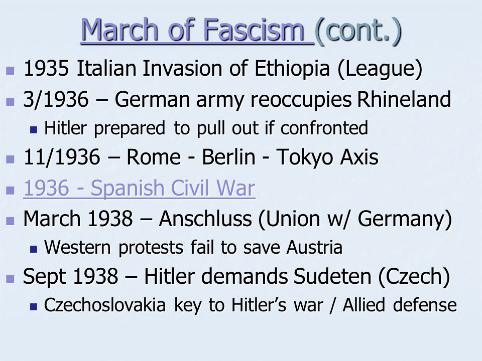 March of Fascism (cont.)