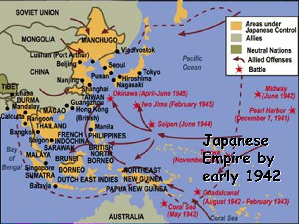 Japanese Empire by early 1942