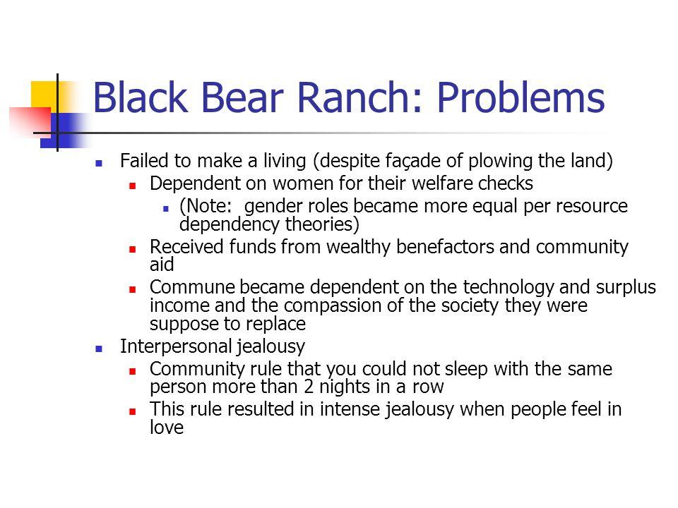 Black Bear Ranch: Problems