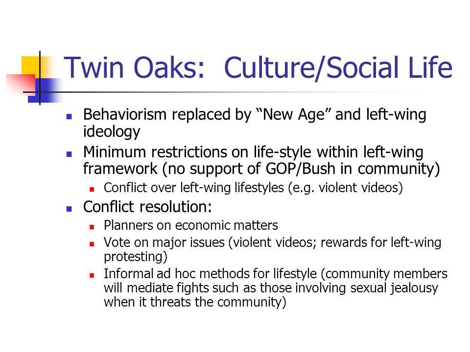 Twin Oaks: Culture/Social Life