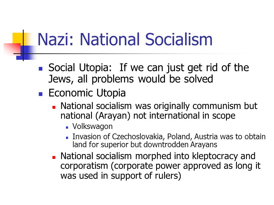 Nazi: National Socialism