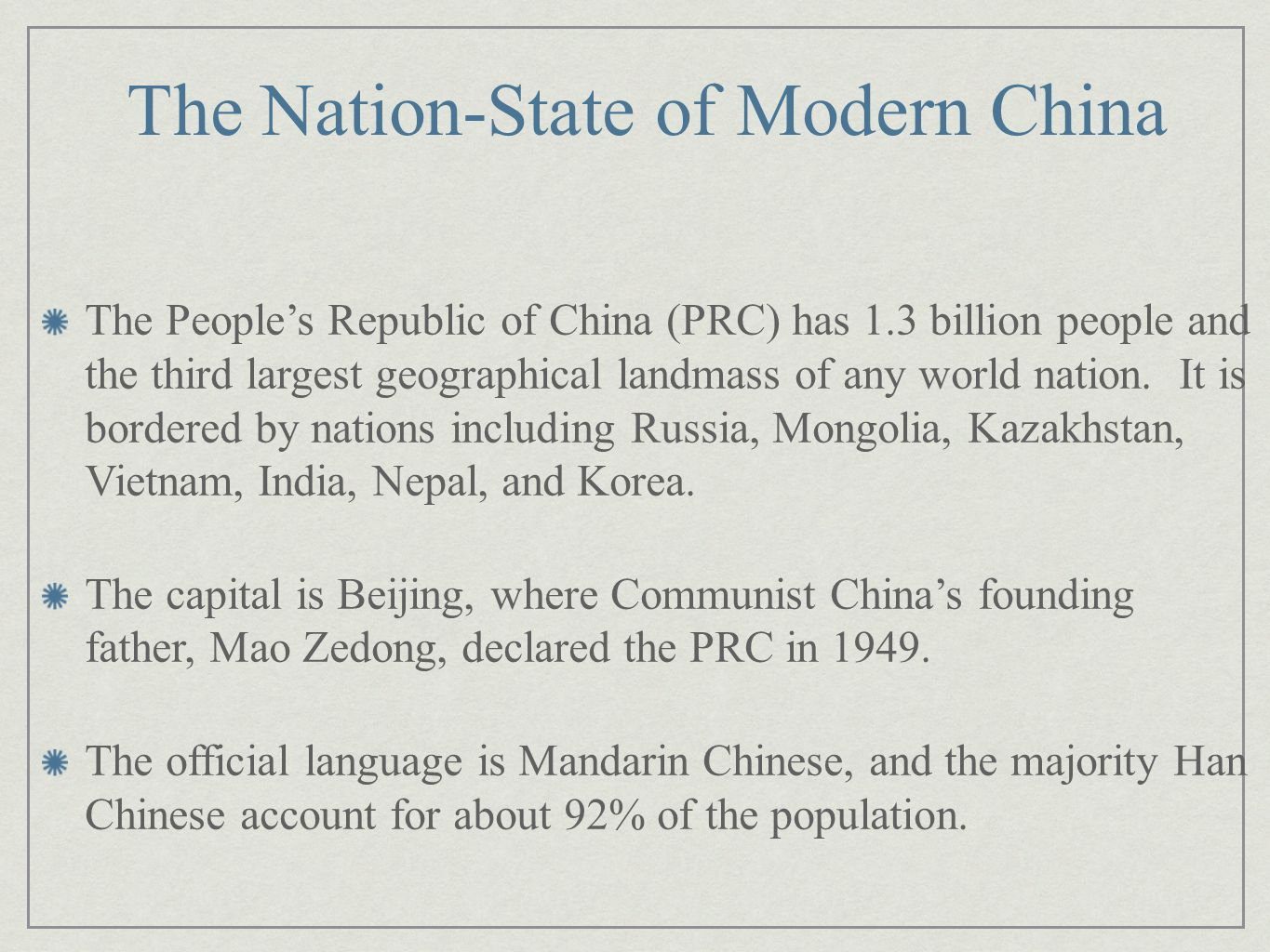 The Nation-State of Modern China