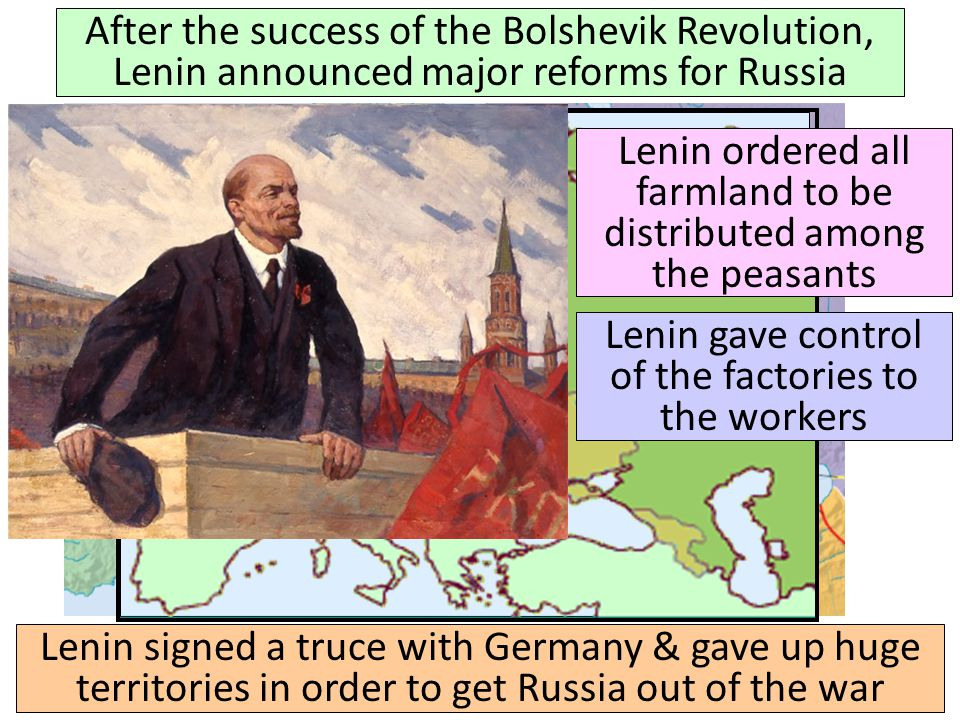 Lenin ordered all farmland to be distributed among the peasants