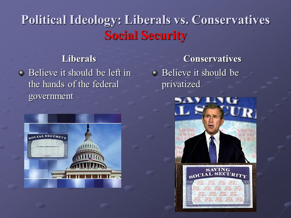 Political Ideology: Liberals vs. Conservatives Social Security