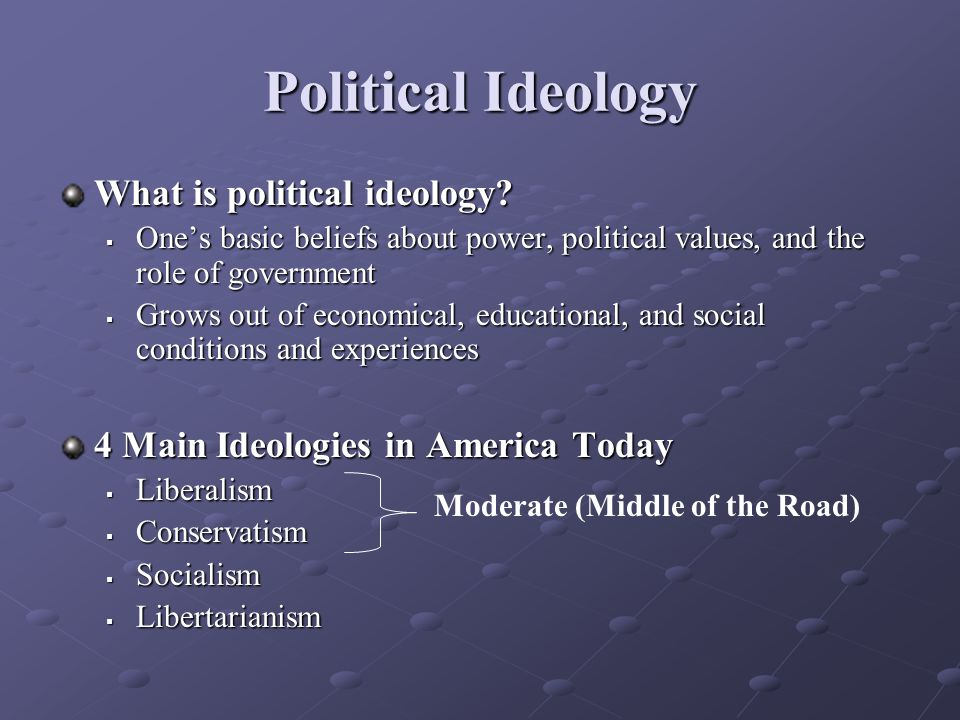 Political Ideology What is political ideology