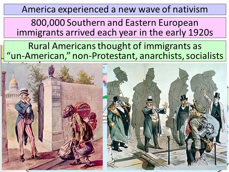 America experienced a new wave of nativism