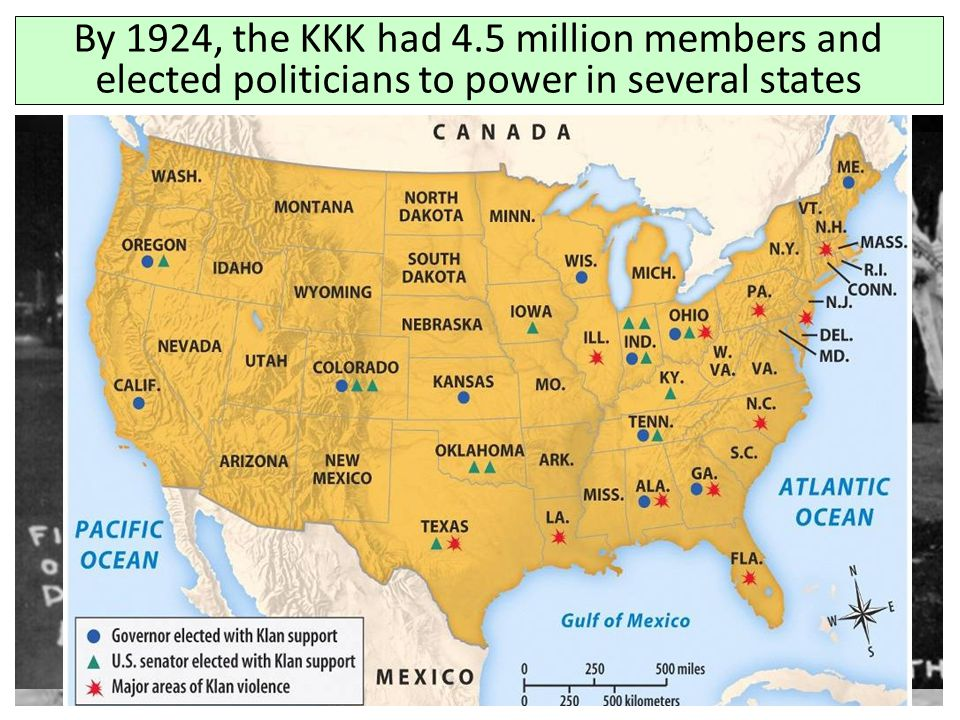 By 1924, the KKK had 4.5 million members and elected politicians to power in several states