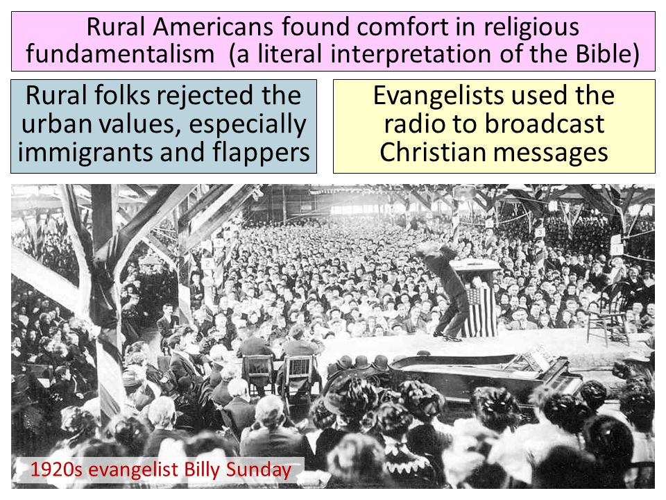 Evangelists used the radio to broadcast Christian messages