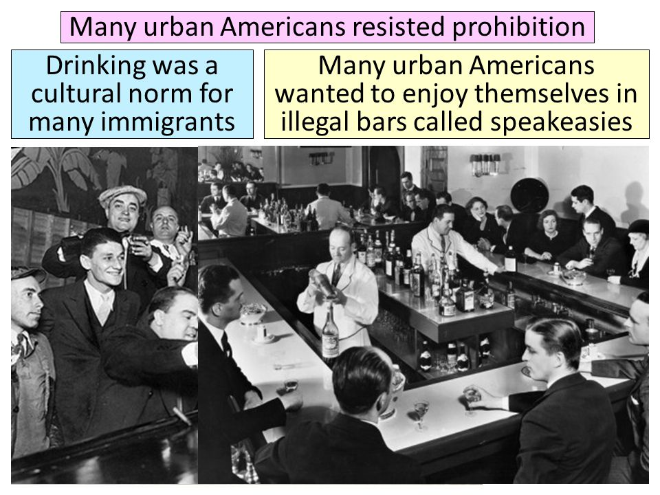 Many urban Americans resisted prohibition
