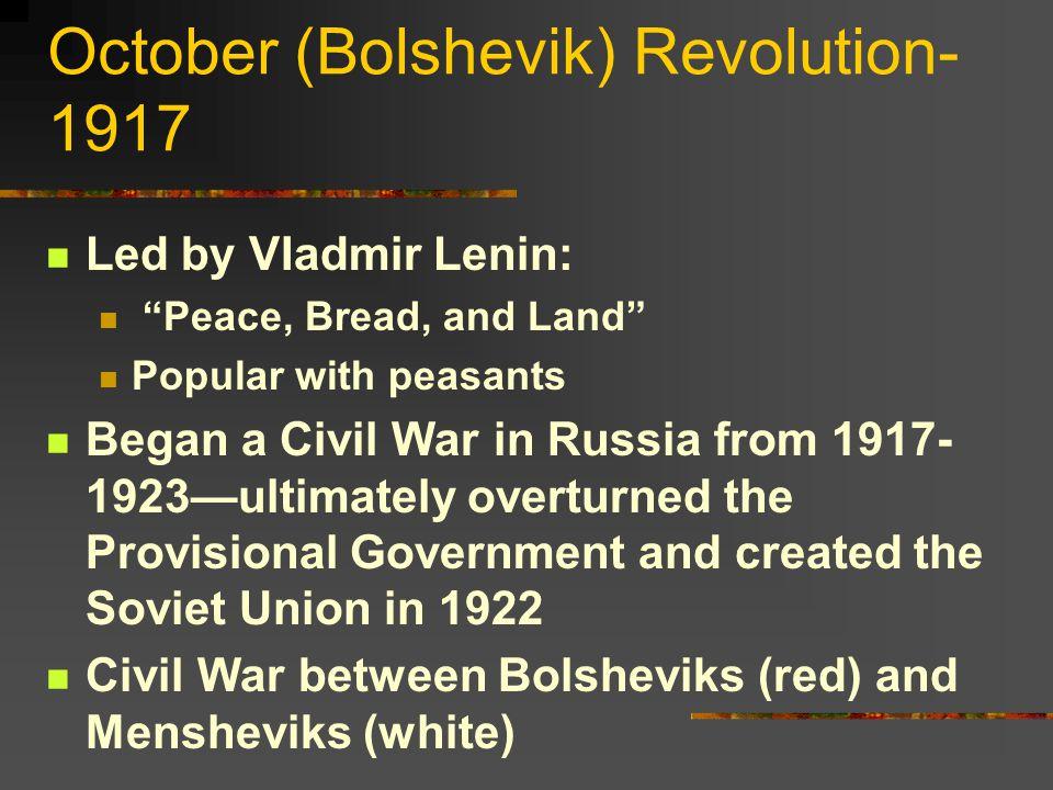October (Bolshevik) Revolution-1917