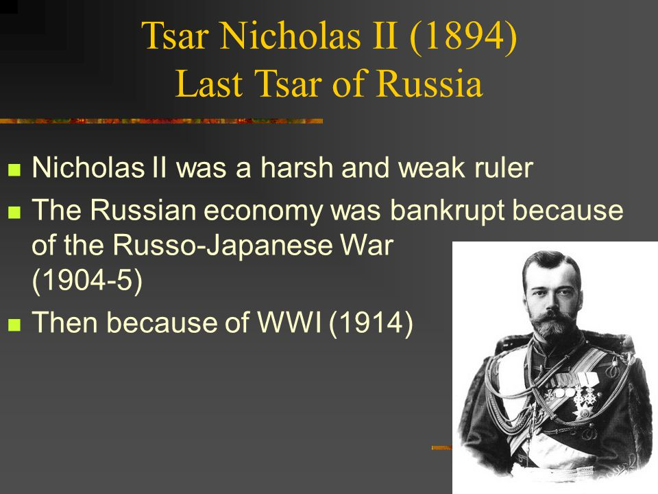 conditions under the tsar