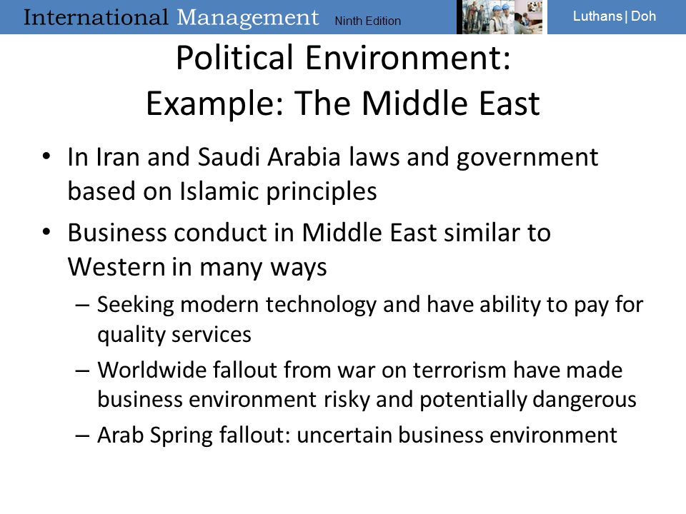 Political Environment: Example: The Middle East