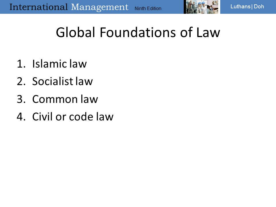 Global Foundations of Law
