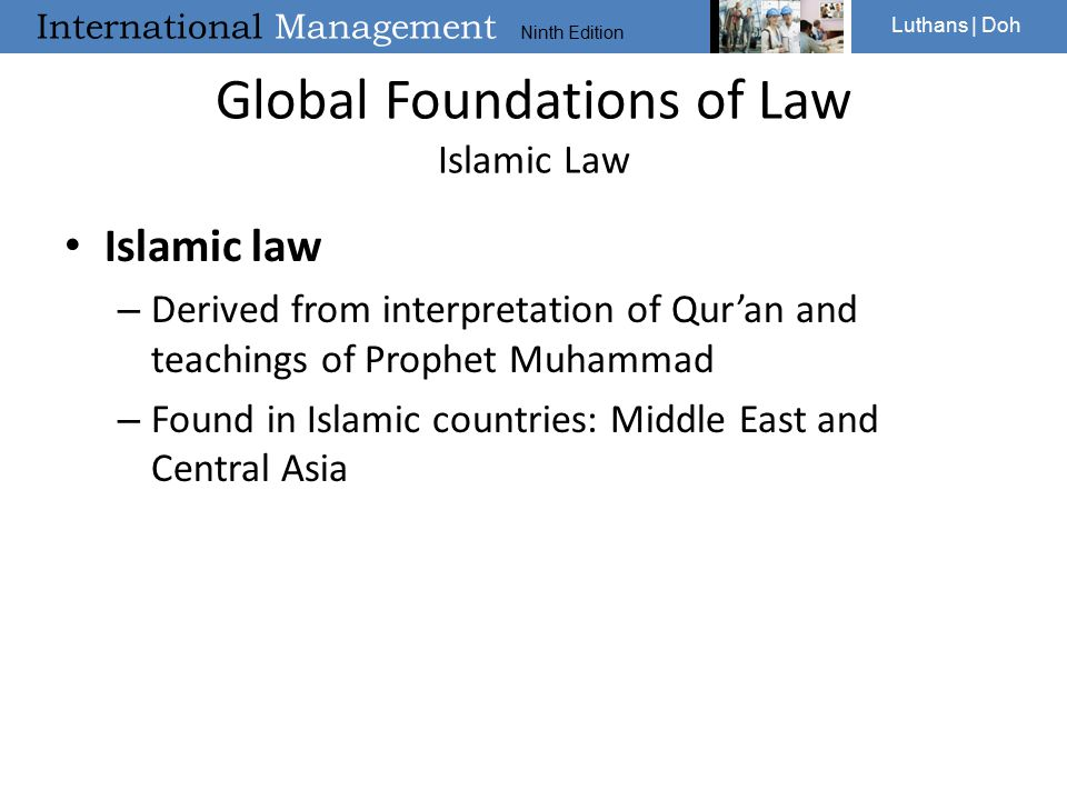Global Foundations of Law Islamic Law
