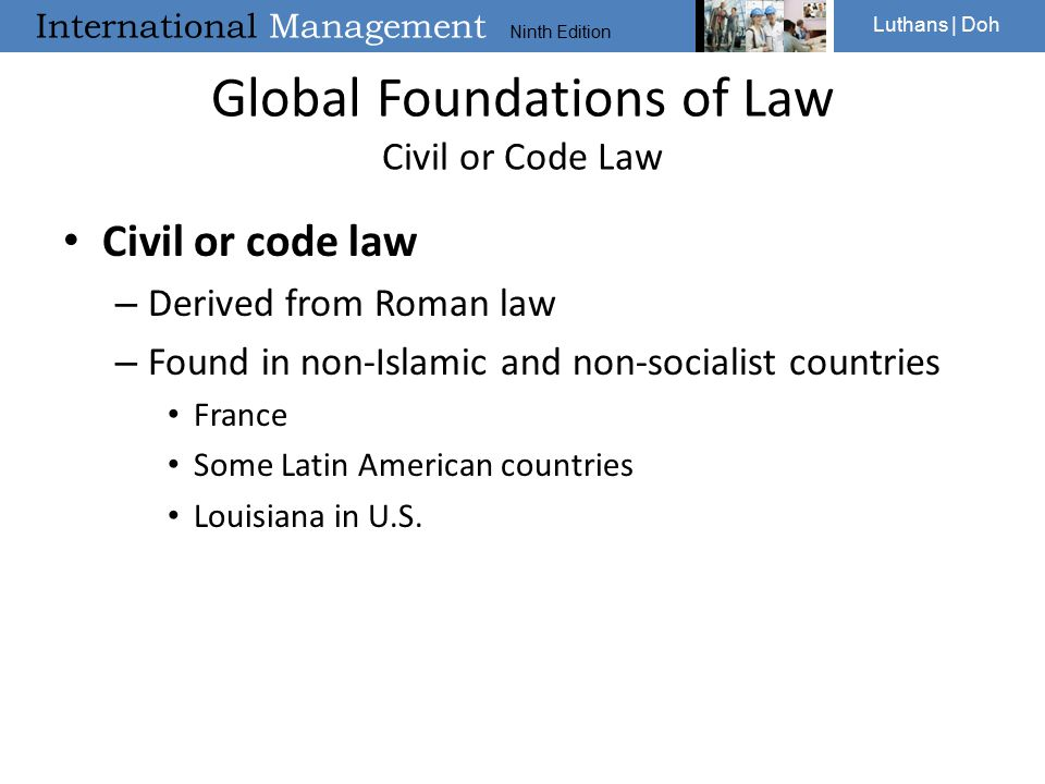 Global Foundations of Law Civil or Code Law