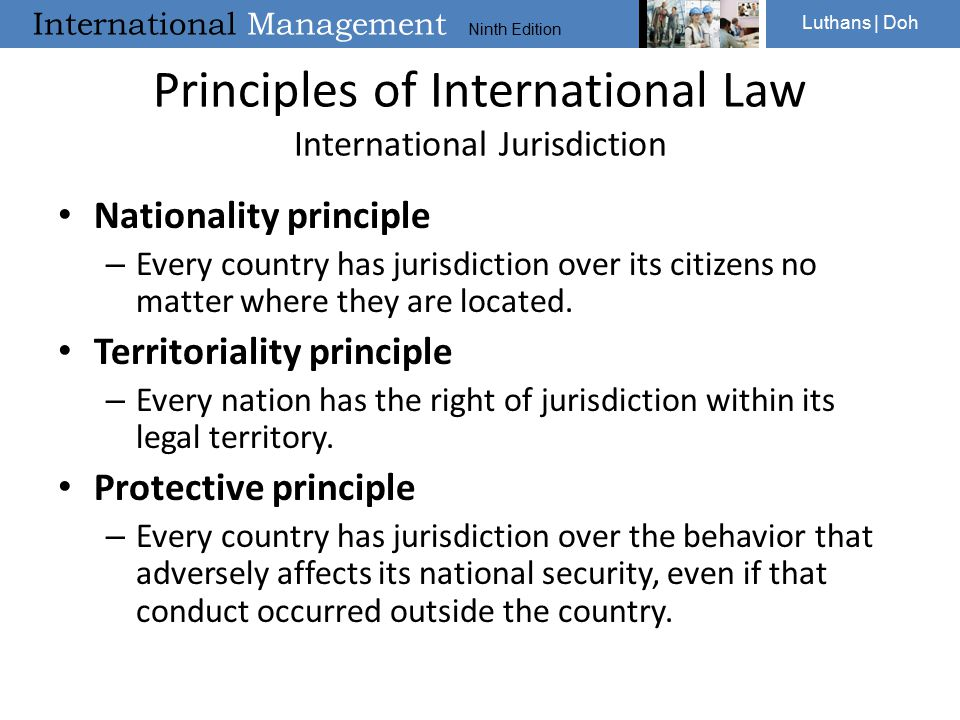 Principles of International Law International Jurisdiction
