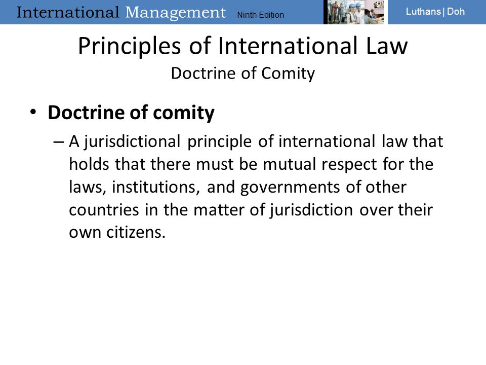 Principles of International Law Doctrine of Comity