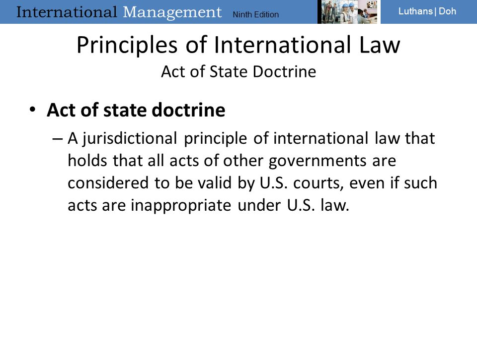 Principles of International Law Act of State Doctrine