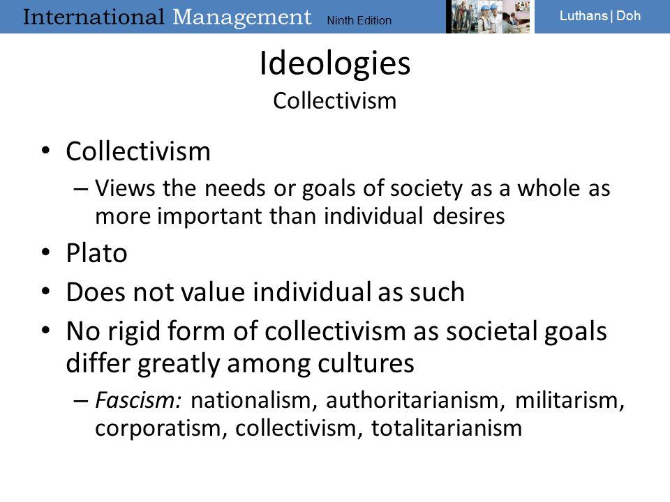 Ideologies Collectivism