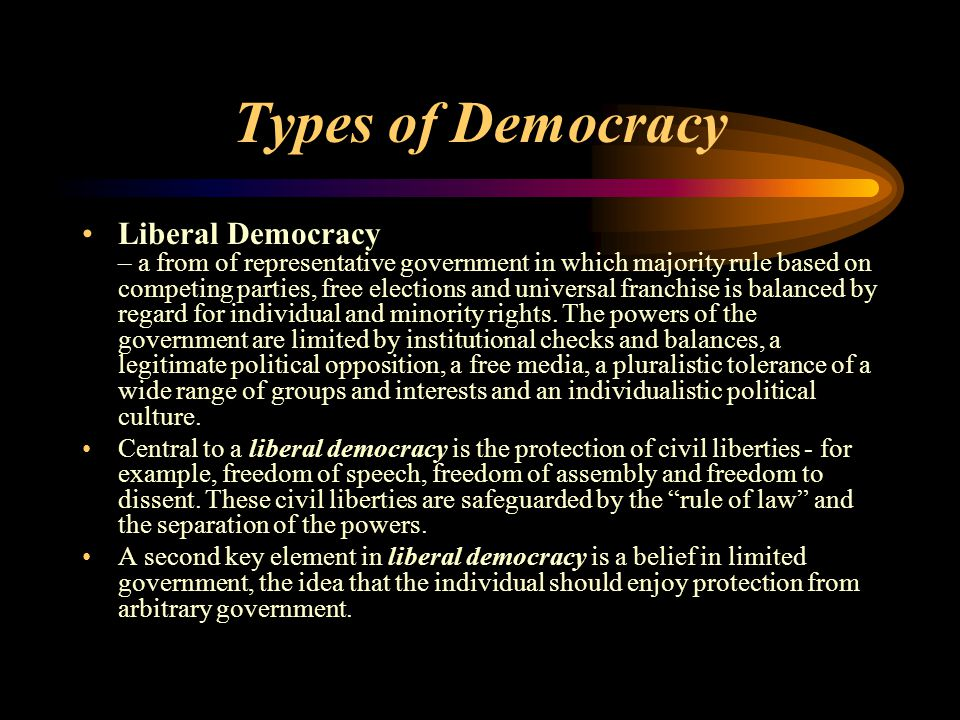Types of Democracy