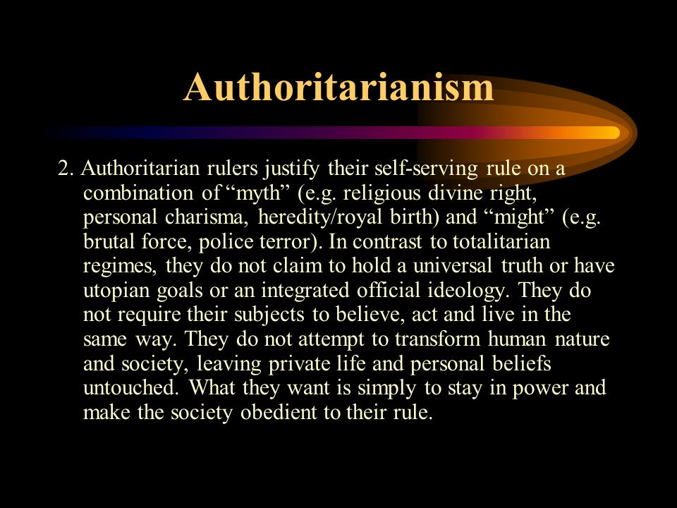 Authoritarianism