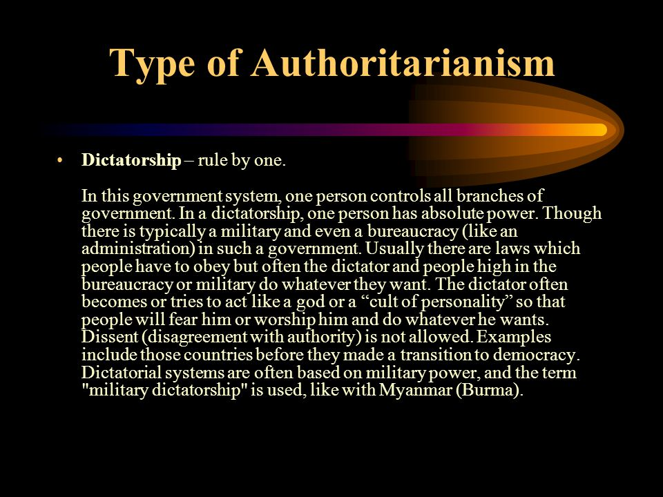 Type of Authoritarianism