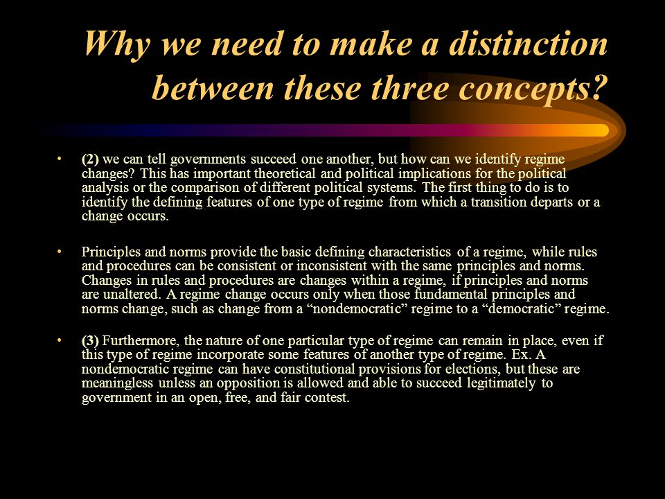 Why we need to make a distinction between these three concepts