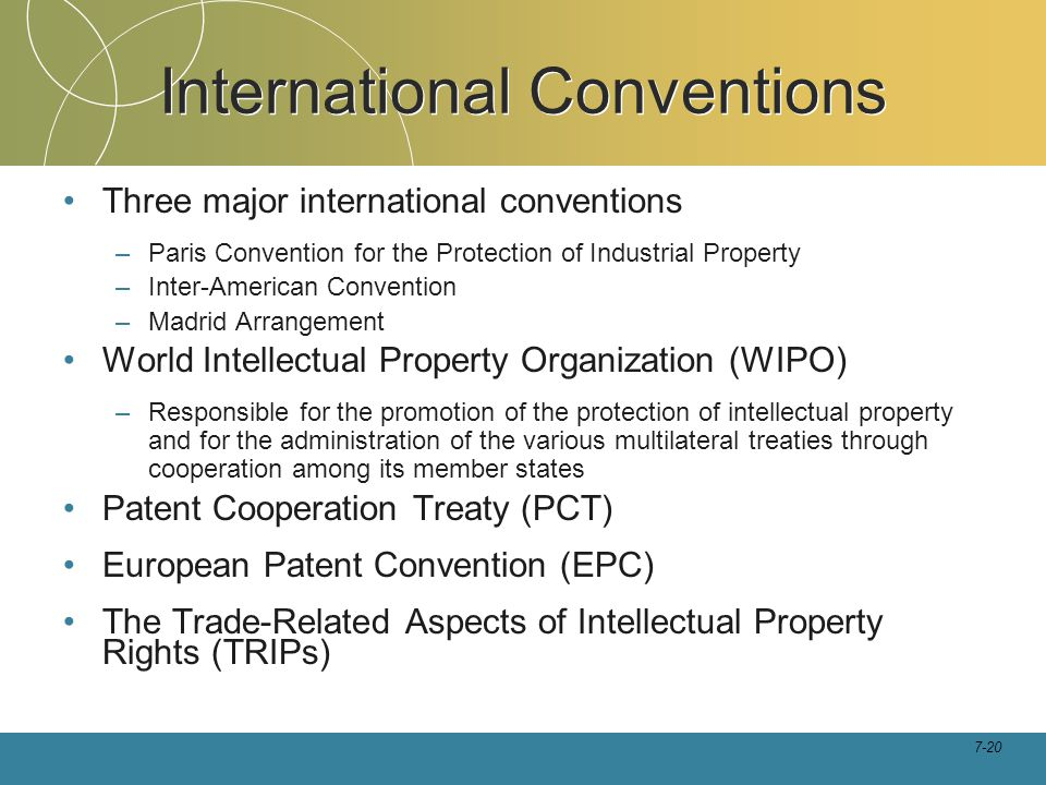 International Conventions