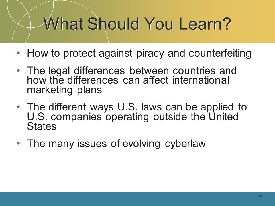 What Should You Learn How to protect against piracy and counterfeiting.