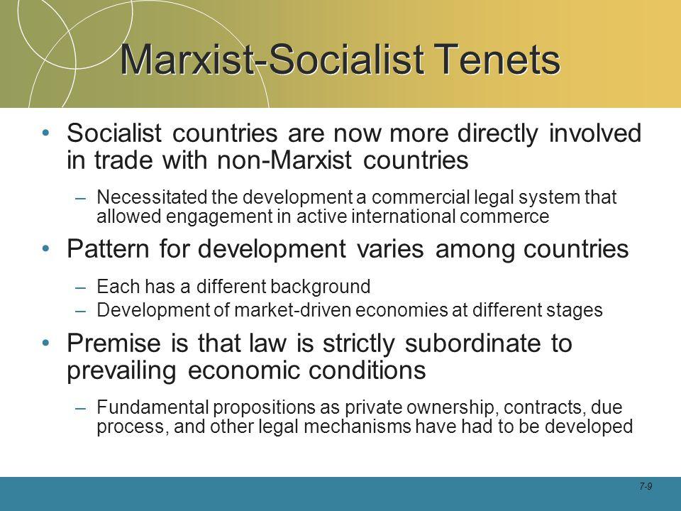 Marxist-Socialist Tenets