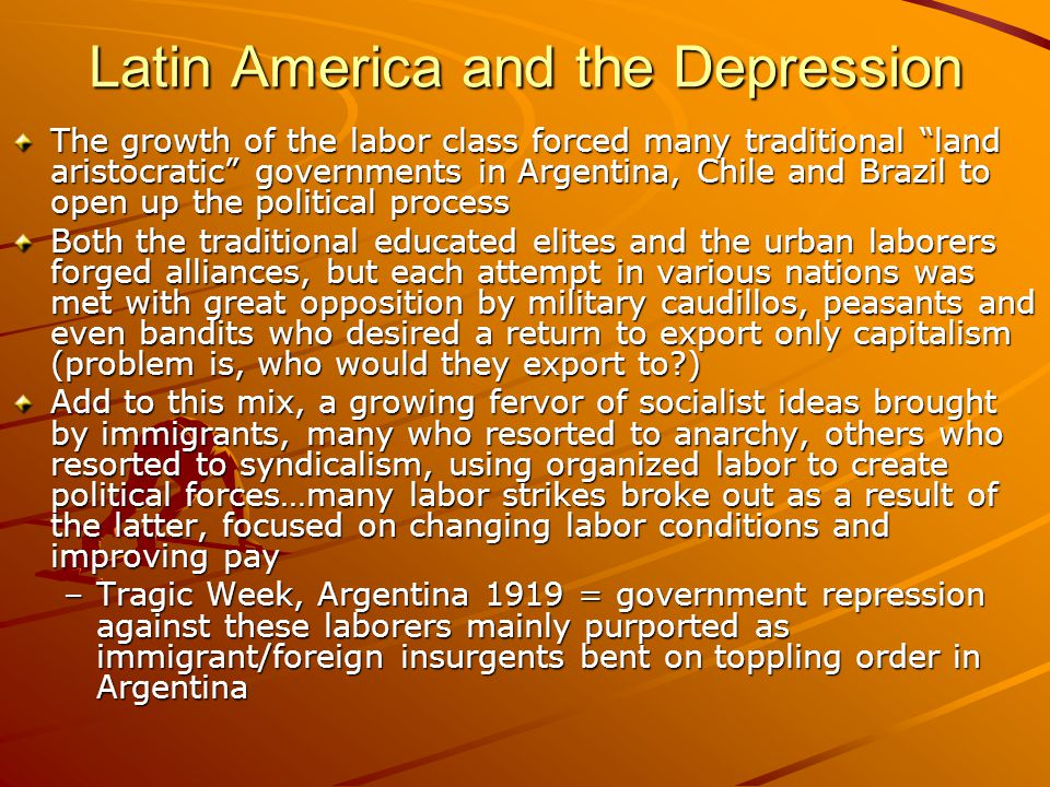 Latin America and the Depression