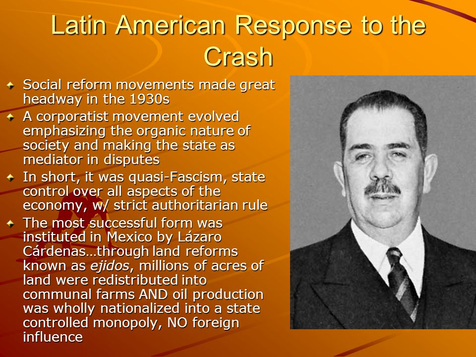 Latin American Response to the Crash